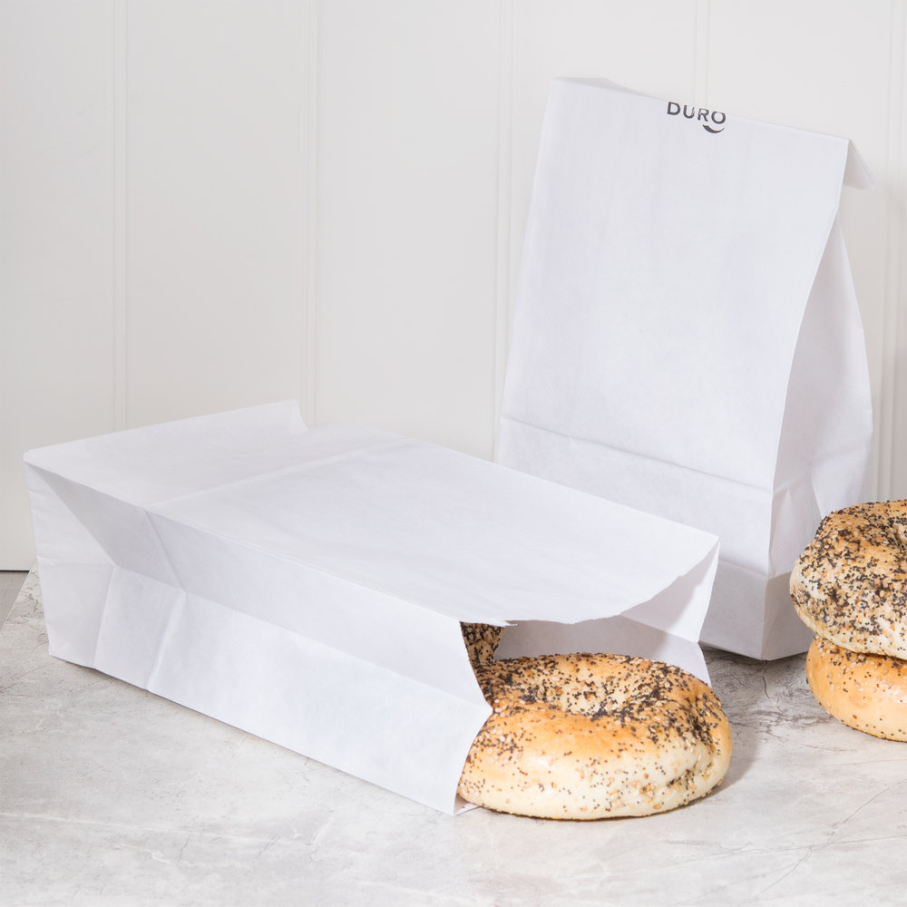 White Paper Bags 2000ct 6x3x11 (51046)